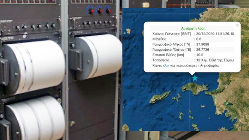 Ισχυρός σεισμός 6,7 Ρίχτερ ανοιχτά της Σάμου – Ταρακουνήθηκε η μισή Ελλάδα