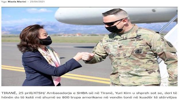 Πρέσβειρα ΗΠΑ στα Τίρανα: Αύριο έρχονται κι άλλοι Αμερικανοί στρατιώτες