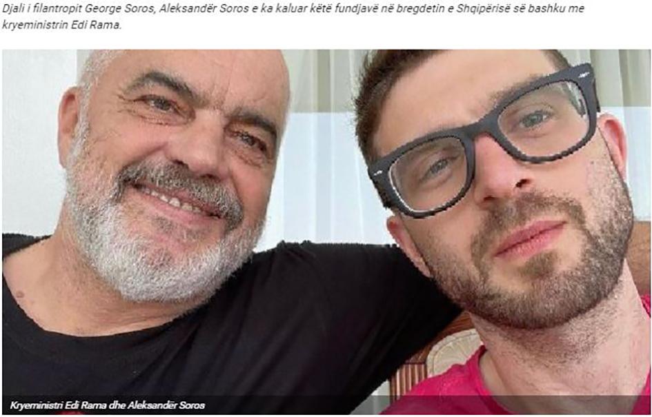 «Διακοπές» του Υιού Σόρος στην Αλβανία με τον πρωθυπουργό Έντι Ράμα
