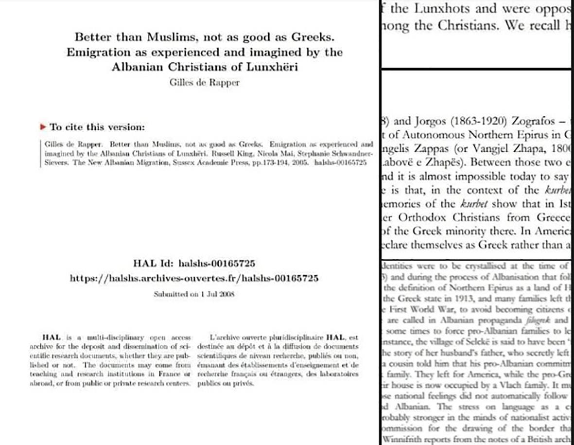 Σχετικά με την Ορθόδοξη αλβανόφωνη (δίγλωσση στο παρελθόν) περιοχή Λούντζης ή Λιντζουριάς Νομού Αργυροκάστρου