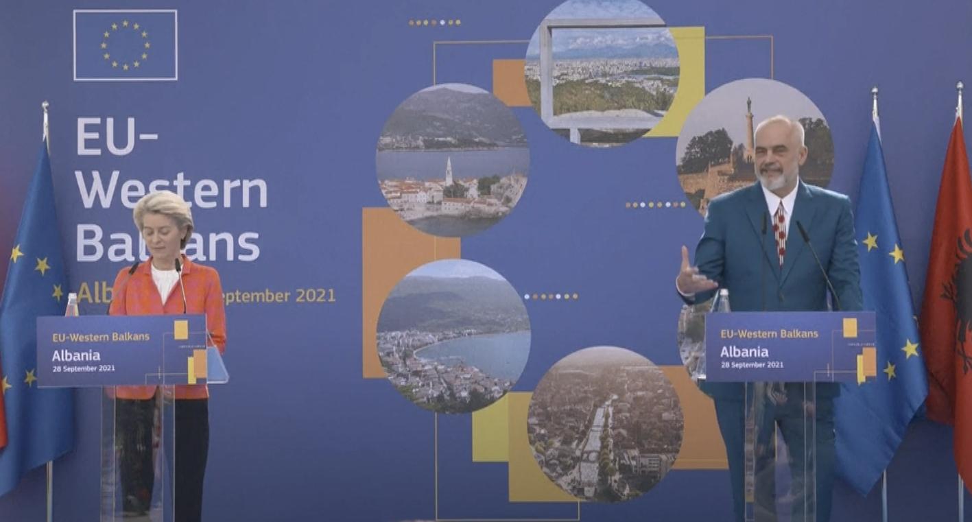 Αλβανία: Ολοκληρώθηκε η επίσκεψη Von der Leyen στα Τίρανα